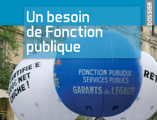 La Fonction publique : une idée d'avenir, la pétition en ligne