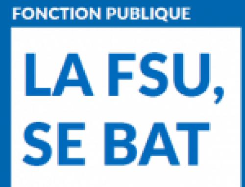 Déclaration FSU – 29 mars 2018